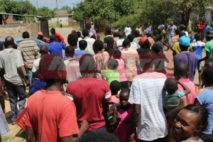 Zimbabwean Pastor Publicly Beaten & Humiliated For Impregnating His Follower (Photos)